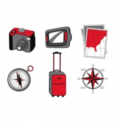 touristic icons vector image vector image