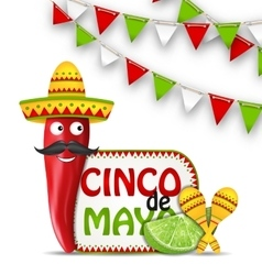 Holiday Celebration Background for Cinco De Mayo vector image
