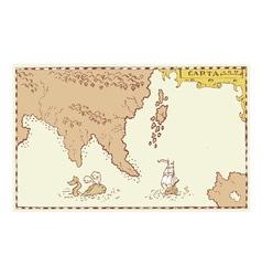 Vintage map treasure island vector