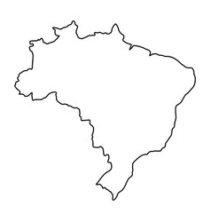 brazil map of black contour curves of vector image vector image