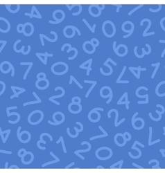 Hand Drawn Numbers Seamless Pattern Blue vector image