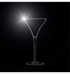 Martini glass cocktail vector image