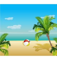 summer background vector image