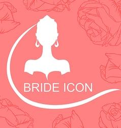 bride icon rose vector image vector image