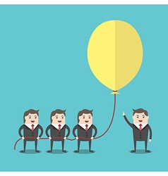 Business people holding balloon vector image