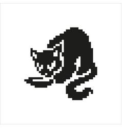 cat in pixel design vector image