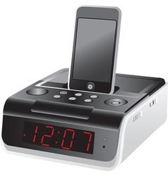 Docking station alarm clock vector image vector image