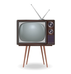 Realistic vintage TV isolated on white background vector image vector image