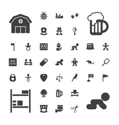 37 small icons vector