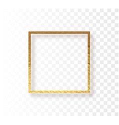 abstract gold frame border vector image