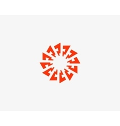 Abstract sun logo design template Geometric flash vector