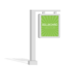 Advertise billboards city light billboard flat 3d vector