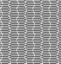 Alternating black and white cut hexagons vector