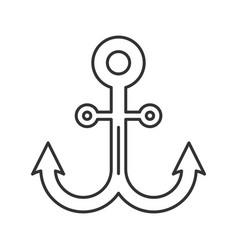 Anchor linear icon vector