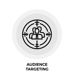 Audience Targeting Icon vector