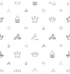 authority icons pattern seamless white background vector image