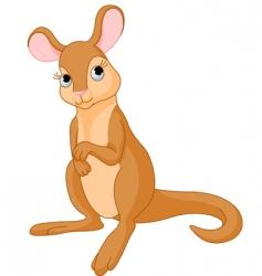 baby kangaroo vector image
