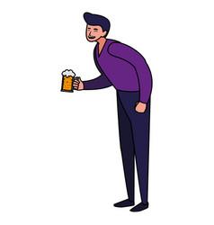 beer mug design vector image