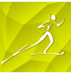 Biathlon Icon vector image