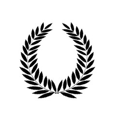black laurel wreath reward modern symbol of vector image