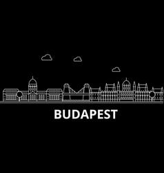 Budapest silhouette skyline hungary - budapest vector