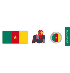 Cameroons national flag collection is isolated vector