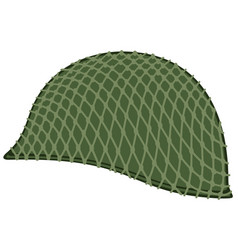 Camouflaged military helmet vector