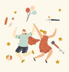 children party birthday celebration concept vector image