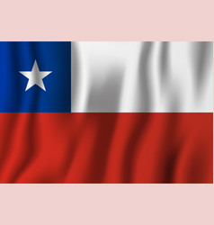 Chile realistic waving flag national country vector