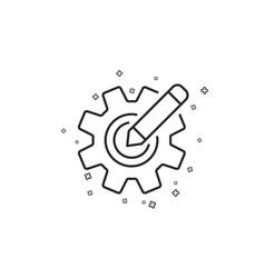 Cogwheel line icon engineering tool sign edit vector