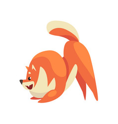 cute happy pomeranian spitz funny pet dog cartoon vector image