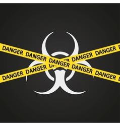 danger tape biohazard vector image