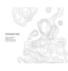 Design element topography map abstract vector