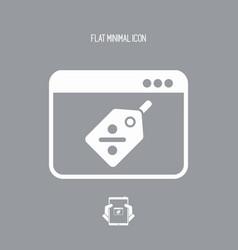 digital discount label icon vector image