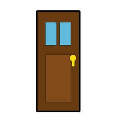Door isolated image vector