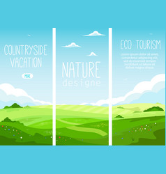 ecotourism and countryside vacation vector image