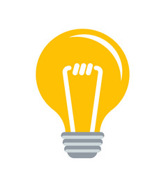 Electric lamp idea and innovation flat vector