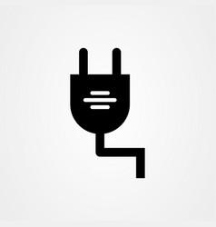 electric plug icon design vector image