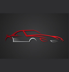 elegant car emblems vector image