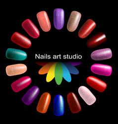 fashion color manicure vector image