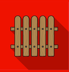 Fence icon in flat style isolated on white vector