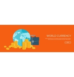 Flat header money and money vector