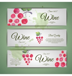 Grapes or Wine concept design vector image