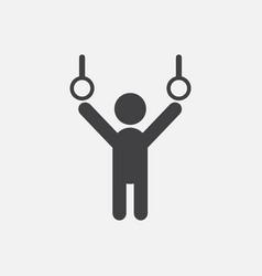 Gymnastics rings vector