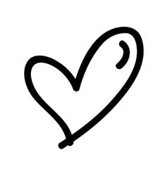 Heart cartoon icon image vector