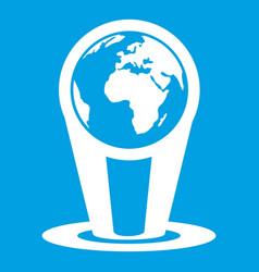 Hologram globe icon white vector