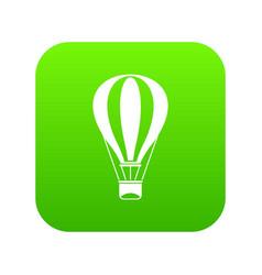 hot air balloon icon digital green vector image