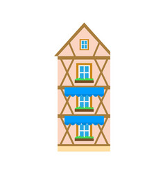 house in old style design building estate icon vector image