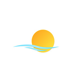 icon sun wave vector image