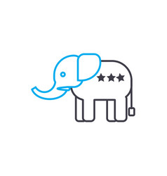 indian elephant linear icon concept indian vector image